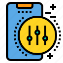control, mobile, phone, smartphone, technology icon
