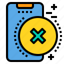 delete, mobile, phone, smartphone, technology icon