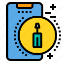 fix, mobile, phone, smartphone, technology icon