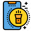 light, mobile, phone, smartphone, technology icon