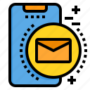 mail, mobile, phone, smartphone, technology icon