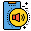 mobile, phone, smartphone, sound, technology, volume icon
