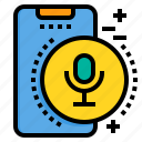 mobile, phone, record, smartphone, technology, voice icon