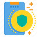 mobile, phone, protect, safe, smartphone, technology icon