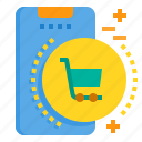 cart, mobile, phone, shopping, smartphone, technology icon