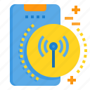 connection, mobile, phone, smartphone, technology, wireless icon