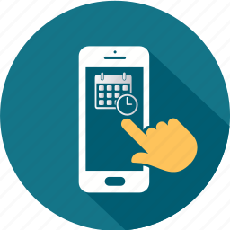 communication, message, mobile, scheduler, smartphone, telephone icon