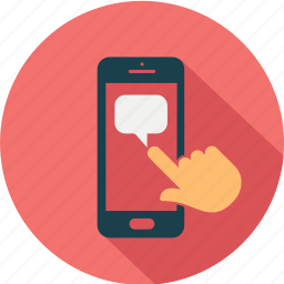 call, communication, dialog, message, mobile, smartphone, telephone icon