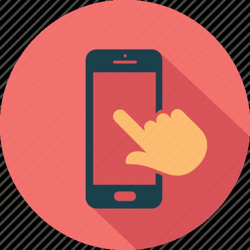 call, communication, hand, mobile, smartphone, telephone, wifi icon