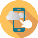 cloud, communication, computing, message, mobile, smartphone, telephone icon