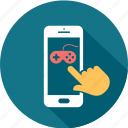 application, communication, game, message, mobile, smartphone, telephone icon