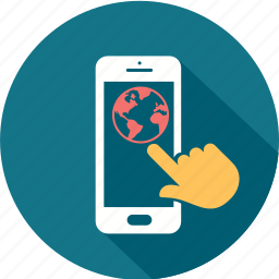 application, communication, internet, message, mobile, smartphone, telephone icon