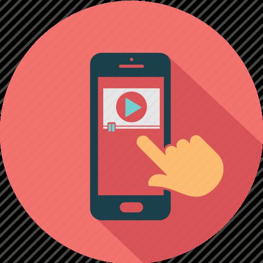 communication, ecommerce, media, mobile, smartphone, telephone, video icon