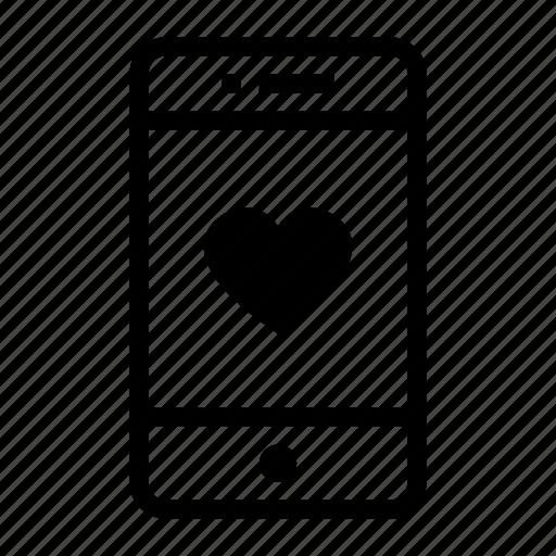 app, cellphone, health, love, mobile, phone, smartphone icon
