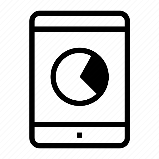 analytic, chart, report, statistic, tablet icon