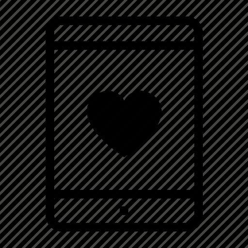app, flirt, like, love, relationship, tablet icon