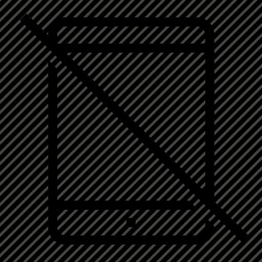 broken, deactivated, gone, off, tablet icon