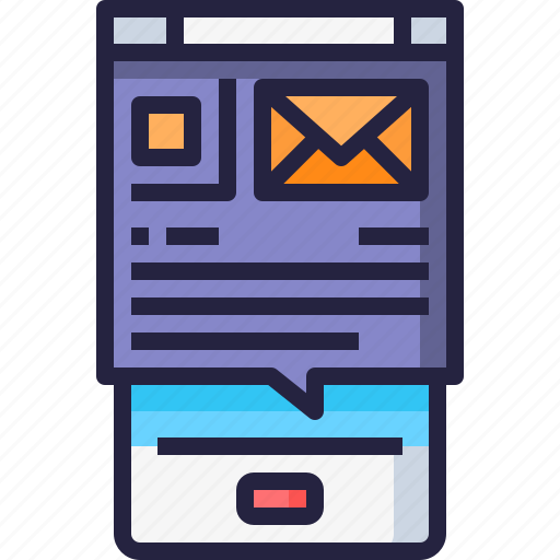 Application, email, letter, mail, mobile icon - Download on Iconfinder