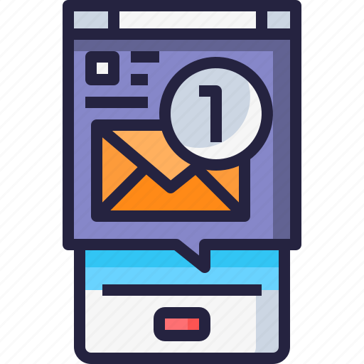 Application, email, letter, mail, message, mobile icon - Download on Iconfinder
