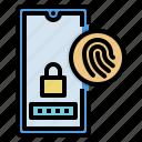 fingerprint, screen, security, smartphone, touch