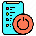 adult, digital, happy, mobile, off, people, switch icon