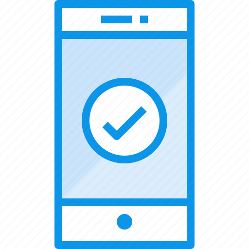 check, communication, device, phone, smartphone, technology icon