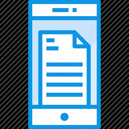 communication, device, doc, phone, smartphone, technology icon