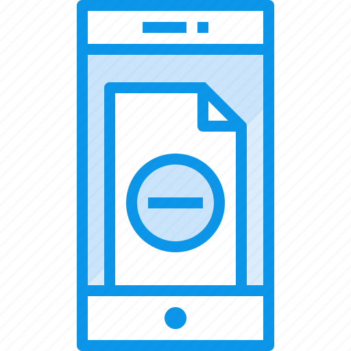 communication, device, doc, phone, remove, smartphone, technology icon