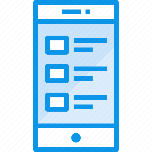 communication, device, list, phone, smartphone, technology icon