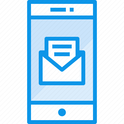 communication, device, mail, open, phone, smartphone, technology icon