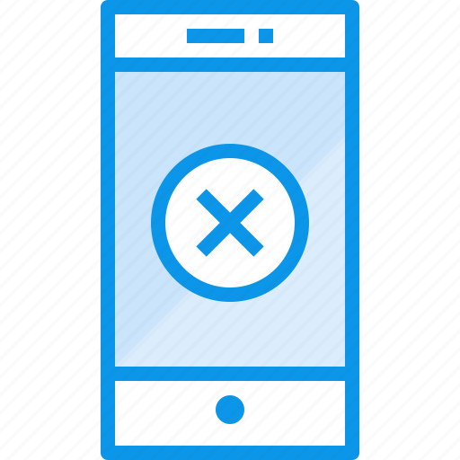 communication, device, phone, smartphone, technology, x icon