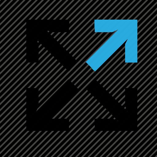 deploy, expand, fullscreen, maximize, screen, zoom icon