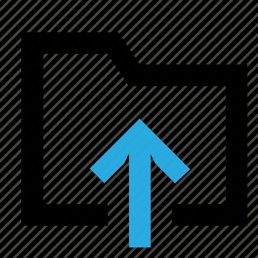 arrow, directory, download, folder, save, send icon