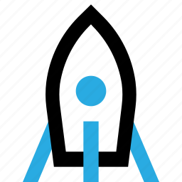 fly, mission, rocket, science, space, spaceship icon
