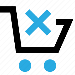 basket, buy, cancel, cart, clear, delete, shopping icon