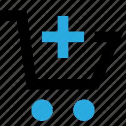 add, basket, buy, cart, plus, shop, shopping icon