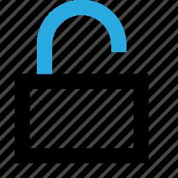 lock, open, security, theft, unlock, unlocked icon