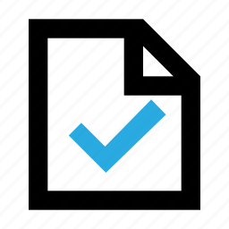 approved, checked, document, file, page, paper, tested icon