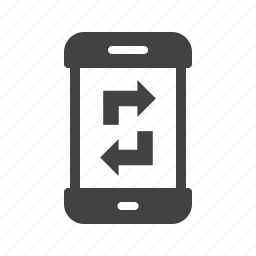 data, device, mobile, smartphone, sync, synchronization, transfer icon