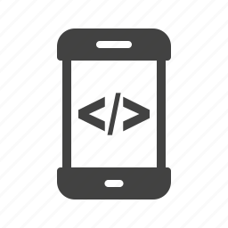 code, coding, mobile, online, phone, smartphone, technology icon
