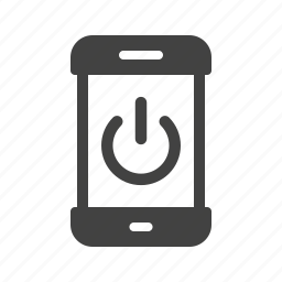 mobile, mode, off, phone, power, restart, smartphone icon