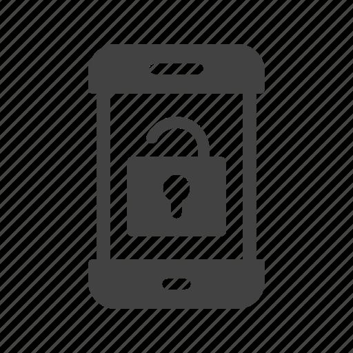 key, lock, open, safety, security, smartphone, unlocked icon