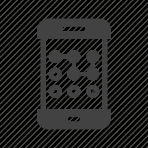 mobile, password, pattern, phone, screen, swipe, unlock icon