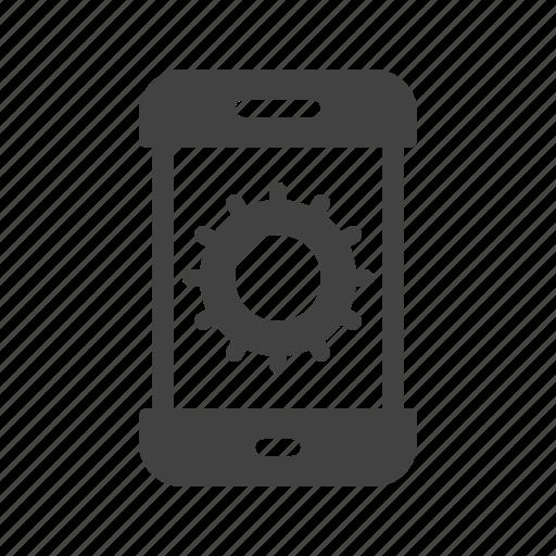 control, mobile, phone, screen, settings, smartphone, web icon