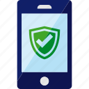 antivirus, phone, safe, security, shield, smartphone icon