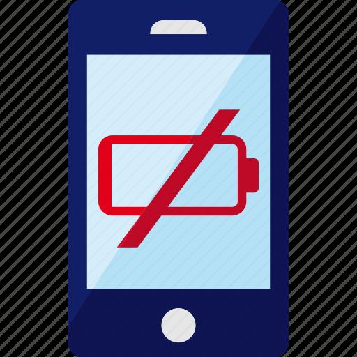 battery, empty, energy, phone, smartphone icon