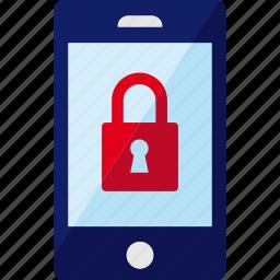 lock, locked, phone, security, smartphone icon