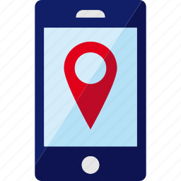 gps, location, map, phone, pin, smartphone icon