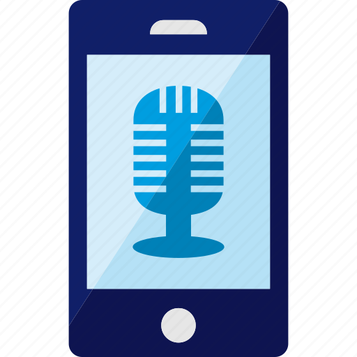 mic, microphone, phone, record, recording, smartphone icon