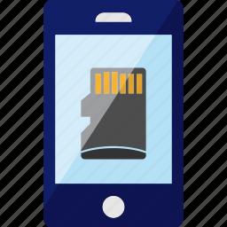 card, mini, phone, sd, smartphone icon